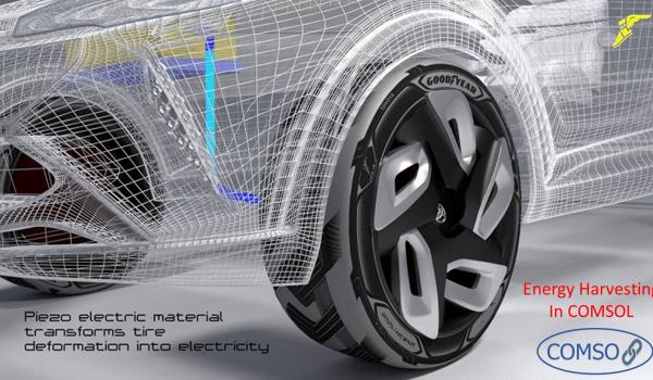 استفاده از پیزوالکتریک در تایر خودرو به منظور برداشت انرژی الکتریکی