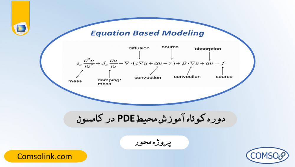 آموزش محیط PDE در کامسول، مدلسازی بر مبنای معادلات